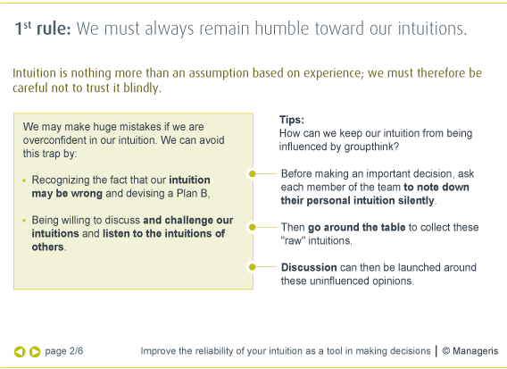 Importance of intuition in decision making