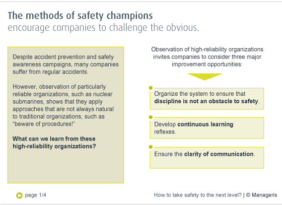 How to take safety to the next level? - Manageris synopses