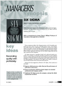 Capitalize on the Six Sigma method