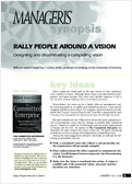 Rally people around a vision