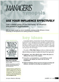 Use your influence effectively