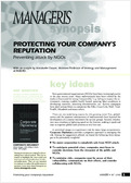 Protecting your company's reputation