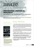 Preventing unethical practices