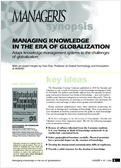 Managing knowledge in the era of globalization