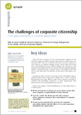 The challenges of corporate citizenship