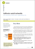 Cultivate social networks