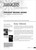 Prevent brand aging
