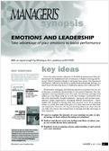 Emotions and leadership