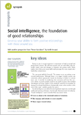 Social intelligence, the foundation of good relationships
