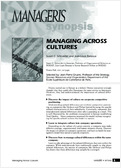 Manage cultural differences