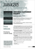Manage your customer equity