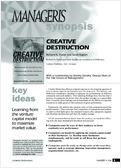 Creative destruction at the service of growth